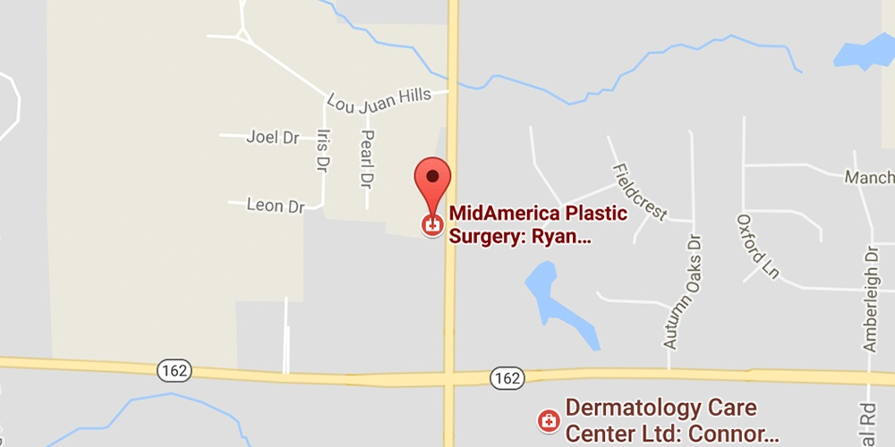 Map of MidAmerica Plastic Surgery location