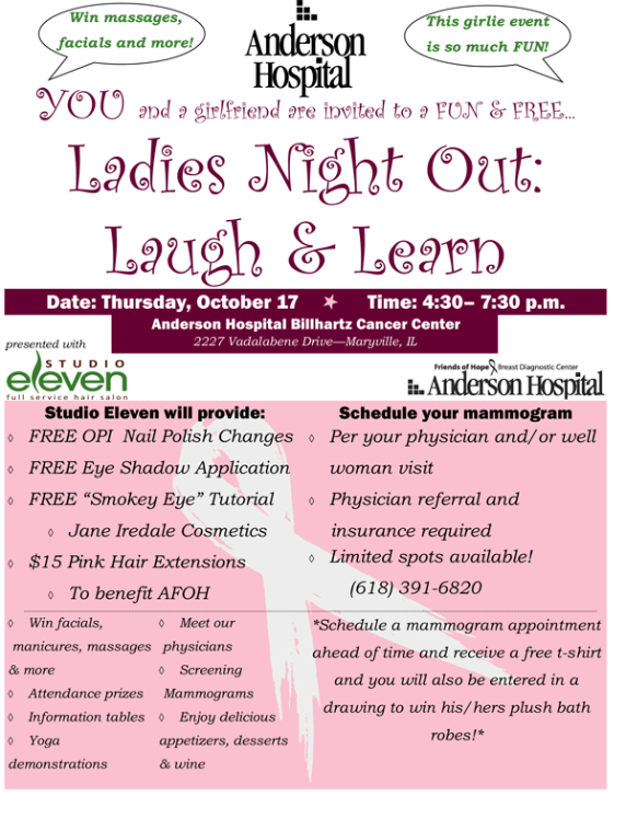Anderson Hospital Ladies Night Out